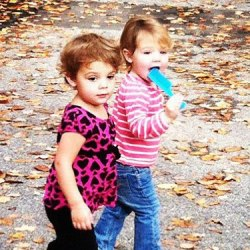 Kayla and Kylie a few weeks ago at Loon Mountain Village